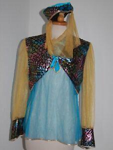 Bauchtanz Kostüm 3 teilig Gr.164 Verkleidungskiste Orientalisch Bauchtanz