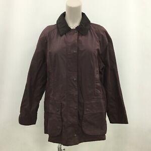 Barbour Coat Size UK22 Short Length Purple Outerwear Plain Women's Simple 423544