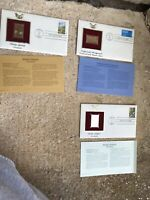 gold golden replicas united states stamps 22k