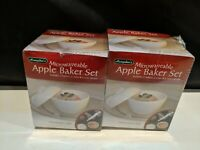 Hampton Direct Microwavable Apple Baker Set Of 2