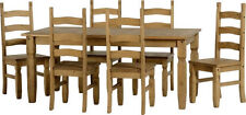 Pine Up to 6 Seats Table & Chair Sets with Extending
