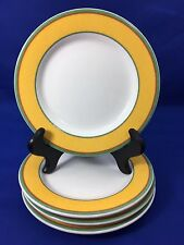 """Villeroy & Boch TIPO VIVA Yellow 6 3/8"""" BREAD PLATES Luxembourg SET OF 4  #A"""