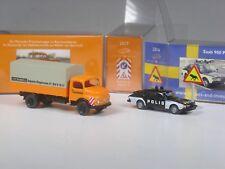 Wiking c&i colección colección MB 1413 depósito de desperdicios recogida y saab 900 polis