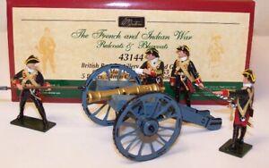 Britains 43144 British Royal Artillery 6 Pound Gun And 4 Man Crew 1754-1763 New