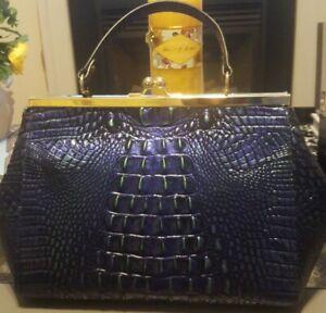 NWT Brahmin Mirage Melbourne Croco Leather Juliette Satchel Bag Purse $265