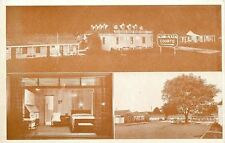 Nashville TN Telephone in View Thru Window~Alamo Plaza Night, Day~1940s Postcard