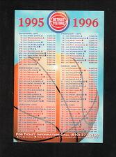 Detroit Pistons & Vipers--1995-96 Pocket Schedule