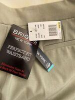 Briggs Women Dress Pants Slacks NEW NWT 16P Petites light green $44