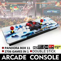 Pandora's Box 2706 Games In 1 Retro Video Games Double Stick Arcade Console US