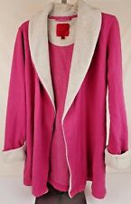 Victoria's Secret Pink Robe Faux Fur Collar Sleeve Plush Size Small Side Pockets