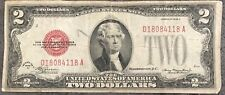 USA 2 Dollar United States Note Red Seal Series 1928 D Erhaltung Banknote #8441