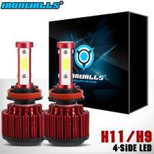 H11 H9 H8 LED Headlight 6000K 1500W 225000LM 4 Side High/Low Fog Conversion Kits