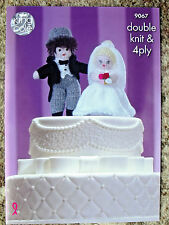 KING COLE PATTERN 9067.  BRIDE AND GROOM.  DOUBLE KNITTING & 4Ply.