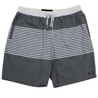 Oakley SPIKE Boardshorts Size 36 XL Mens Grey Stripe Casual Board Walk Shorts