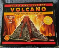 BUILD YOUR OWN VOLCANO CRAFT PAPIER-MACHE SCHYLLING 8+ EDUCATIONAL UNOPENED