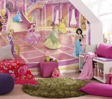 Girly bedroom wallpaper wall mural Photomural Disney Princess Party 144x100inch