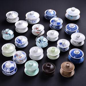 big promotion porcelain gaiwan Chinese cup bowl set zisha tureen multi-pattern