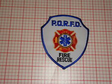 P.O.R.F.D Fire Department Patch (T3)