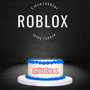 "PRE CUT 5"" Roblox Edible Icing Logo Cake Topper Decorations Birthday Gaming Ipad"