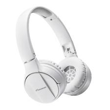 Pioneer SE-MJ553BT in White - Bluetooth Headphones with built in Mic