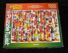 "Puzzle Twist ""Brewfest"" 1000 piece jigsaw puzzle Maynards Llc, Minneapolis Vg"