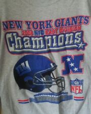 Ny Giants 2008 Nfc East Division Champs Gray Long Sleeves L Shirt