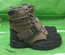 Polo Ralph Lauren Shoes Brandy Holden Leather Hi Brown/Black Boots Size 10.5 C