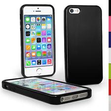 Nero Custodia TPU Gel per Apple iPhone 5 5S SE S Phone 4G LTE Skin Case Cover