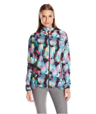 ASICS - Inkbot Floral Print Packable Zip Up Jacket Carbon38 Bandier - S NWOT