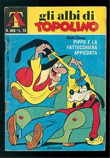 GLI ALBI DI TOPOLINO 808 MAGGIO 1970 WALT DISNEY PIPPO FATTUCCHIERA APPIEDATA