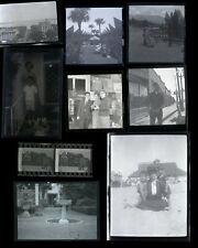 (27) Vintage B&W Negative photo lot / Signs - City Shops Postings Roadways Texts