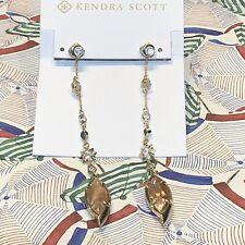 Kendra Scott Lane Shoulder Duster Ear Jackets - Crackle Brown Pearl