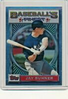 1993 Topps Finest #124 Jay Buhner Seattle Mariners