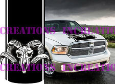 Hemi Dodge Ram Head New 2 Hood Truck Decal Mopar Stickers Racing  Choose Color
