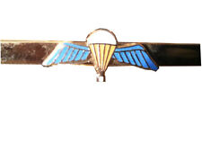 Parachute Qualification Wings Military Tie Clip Slide