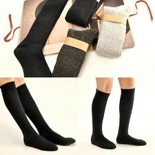 Mujeres Boot Calcetines de lana hasta la rodilla alta Gruesas Cálidas