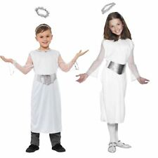 Childrens Girls Nativity Angel Costume Christmas Kids Fancy Dress Party Outfit Small (age 4 - 6 Years)