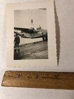 Vintage WWII Original Photo Photograph Soldiers Repairing Plane