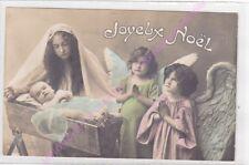 CPA FANTAISIE JOYEUX NOEL Bébé  anges femme