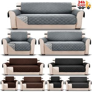 Sofa Slip Covers Waterproof 1/2/3 Seater Arm Chair Furniture Protector Couch Pet