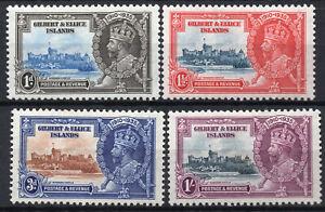Gilbert & Ellice Is. 1935 Silver Jubilee KGVI X Fine Lightly Mounted Mint / LMH