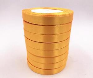 12 Colors DIY 25 Yards 12mm Bows Wedding Satin Ribbon Solid color Ribbon Crafts