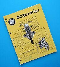 1950s-70 BMW Motorcycle Accessory Catalog Book R27 R50 R60 R69 R75 R60/5 R69S