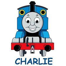 *****THOMAS THE TRAIN PERSONALIZED ****FABRIC/T-SHIRT IRON ON TRANSFER
