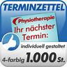 1.000 Terminzettel Terminkarten f. Physiotherapeut, in Ihrem Design