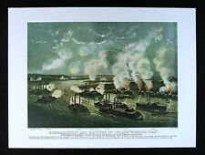 Currier & Ives Print Bombardment of Island No. 10 New Madrid Civil War Ironclads
