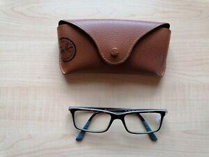 Ray-Ban Brille Damen havannah-blau mit Gläser mit Fernstärke R-0,50 L -0,75