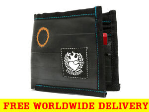BLACK WALLET with COIN POCKET from Reclaimed Bike Inner Tube + FREE DELIVERY