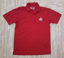 Ohio State Buckeyes Cutter & Buck Golf Polo Shirt ~ Men's Small S M ~ Red
