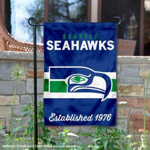 Seattle Seahawks Throwback Retro Vintage Official Garden Yard Banner Flag